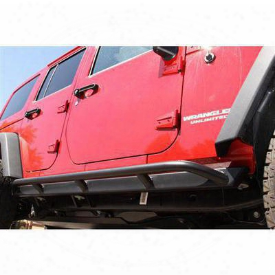 Rock Hard 4x4 Parts Tubular Rocker Guards (black) - Rh-6009