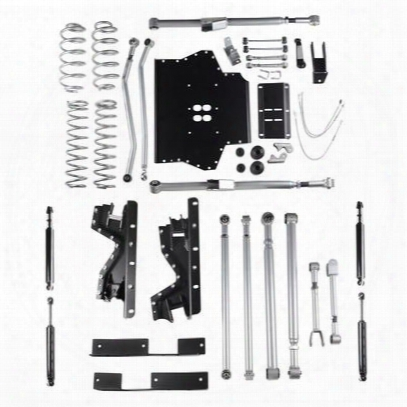 Rubicon Express 4.5 Inch Extreme-duty Long Arm Lift Kit With Rear Track Bar With Twin Tube Shocks - Re7214t