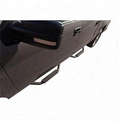 Rampage Slimline Side Bar Steps, Cab Length (textured Black) - 26625