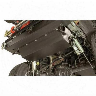 Rock Hard 4x4 Parts Aluminum Muffler Skid Plate (black) - Rh-5047