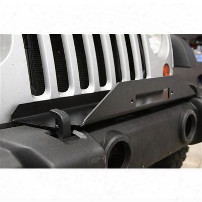 Rock Hard 4x4 Parts Jk Factory Bumper Winch Plate (black) - Rh-5010