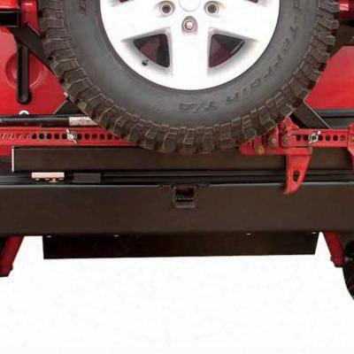 Rock Hard 4x4 Parts Muffler Skid Plate (black) - Rh-5001-a