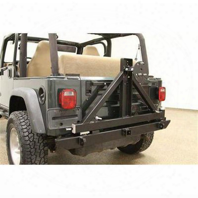 Rock Hard 4x4 Parts Rear Bumper With Tire Carrier Includes 2 Inch Receiver And D - Rh-2001-c