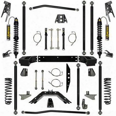 Rock Krawler 2.5 Inch Stage-2 Coil Over Off-road Pro Long Arm System With 6 Inch Rear Stretch - Jk25corp-6s2