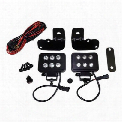 Crown Automotive 4 Inch Led Block Lamp Kit (black) - Rt28032