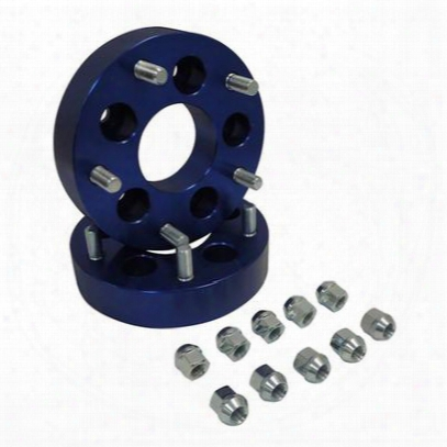 Crown Automotive 5x4.5 To 5x5.5 Inch Bolt Pattern With 1.5 Inch Offset Wheel Adapter Set (anodized Blue) - Rt32002