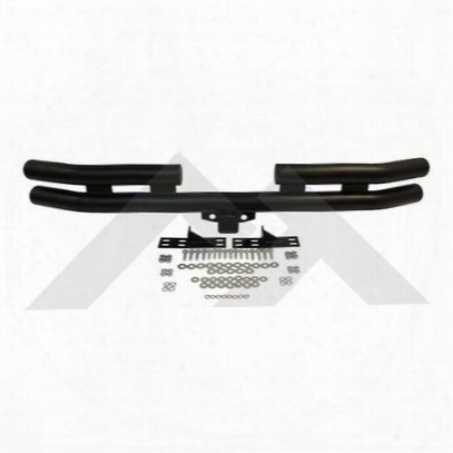 Crown Automotive Double Tube Rear Bumper With Hitch Receiver (black) - Rt20007