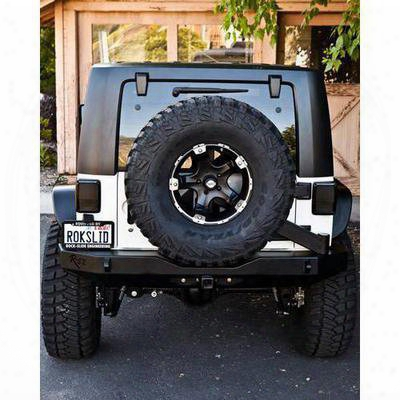 Rock-slide Engineering Rigid Rear Bumper Without Tire Carrier (black) - Rb-f-101-jk