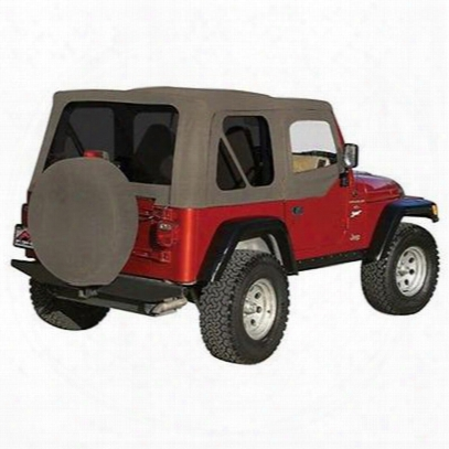 Rt Off-road Complete Soft Top With Upper Soft Doors (khaki Diamond) - Ct20236t