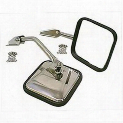 Rugged Ridge Side Mirrors (stainless Steel) - 11005.02