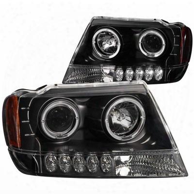 Anzo Projector Headlight Set; W/halo - Anz111043