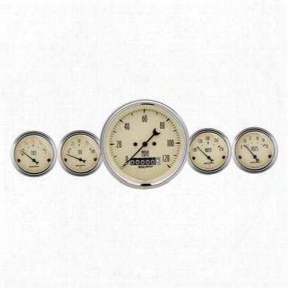 Auto Meter Antique Beige 5 Gauge Set Fuel/oil/speedo/volt/water - 1840
