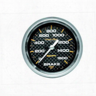Auto Meter Carbon Fiber Electric Brake Pressure Gauge - 4867