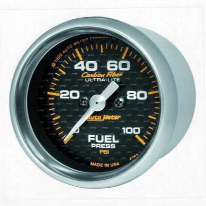 Auto Meter Carbon Fiber Electric Fuel Pressure Gauge - 4763