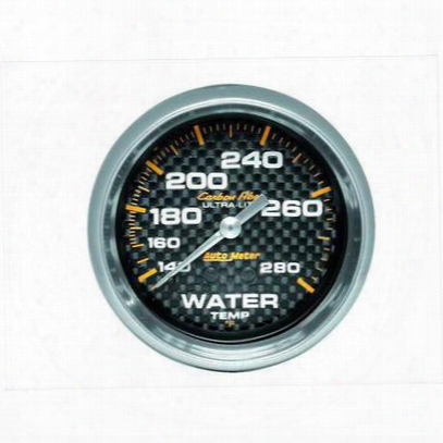 Auto Meter Carbon Fiber Mechanical Water Temperature Gauge - 4831