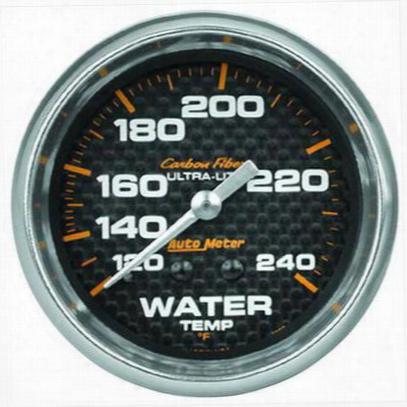 Auto Meter Carbon Fiber Mechanical Water Temperature Gauge - 4832