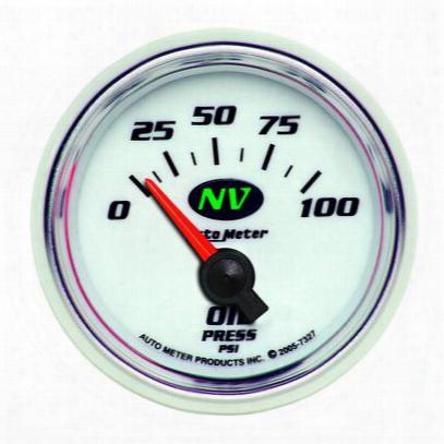 Auto Meter Nv Electric Oil Pressure Gauge - 7327