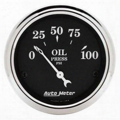 Auto Meter Old Tyme Black Oil  Pressure Gauge - 1727