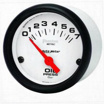 Auto Meter Phantom Electric Metric Oil Pressure Gaauge - 5727-m