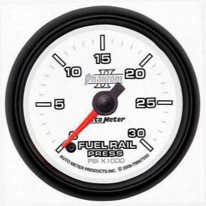 Auto Meter Phantom Ii Fuel Rail Pressure Gauge - 7586