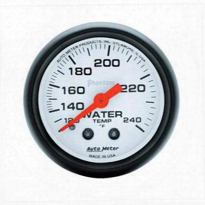 Auto Meter Phantom Mechanical Water Temperature Gauge - 5732