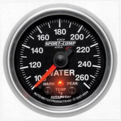 Auto Meter Sport-comp Ii Electric Water Temperature Gauge - 7655