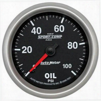Auto Meter Sport-comp Ii Mechanical Oil Pressure Gauge - 7621