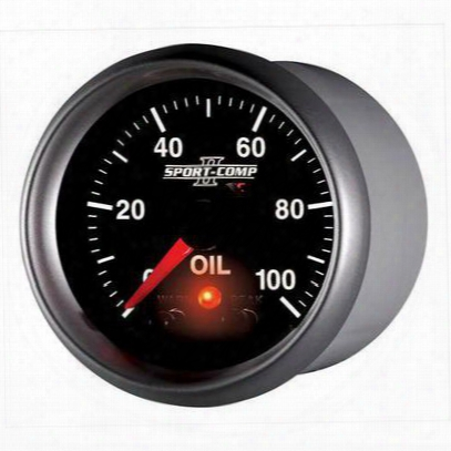 Auto Meter Sport-comp Pc Oil Pressure Gauge - 3652