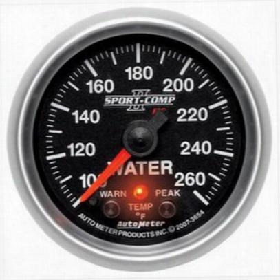 Auto Meter Sport-comp Pc Water Temperature Gauge - 3654