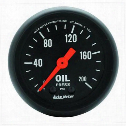 Auto Meter Z-series Mechanical Oil Pressure Gauge - 2605