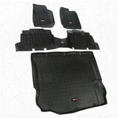 Rugged Ridge All Terrain Floor Liner Kit (black) - 12988.04