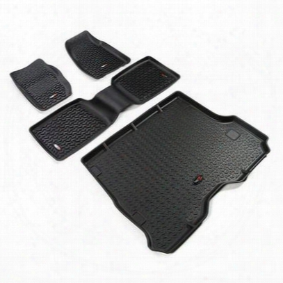Rugged Ridge All Terrain Floor Liner Kit (black) - 12988.3