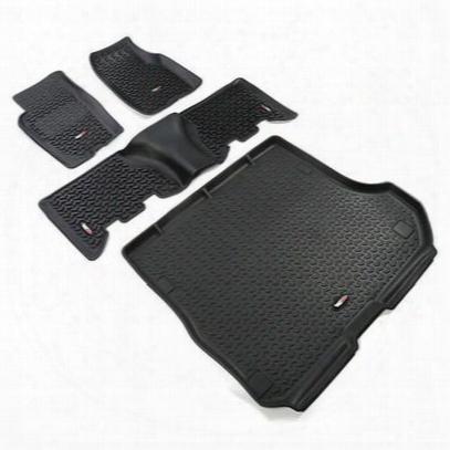Rugged Ridge All Terrain Floor Liner Kit (black) - 12988.31
