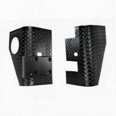 Rugged Ridge Armor Cladding Rear Tall Corners (black Plastic) - 11650.01