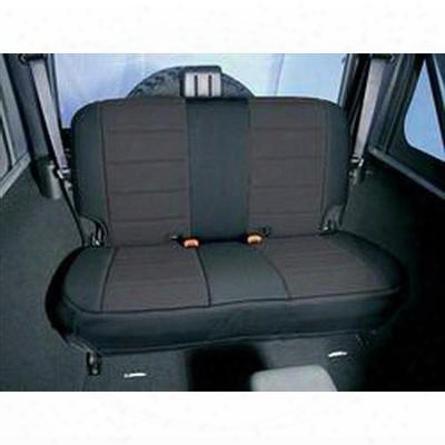 Rugged Ridge Custom Fit Neoprene Rear Seat Cover (black/black) - 13263.01