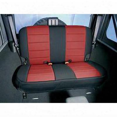 Rugged Ridge Custom Fit Neoprene Rear Seat Cover (black/red) - 13263.53