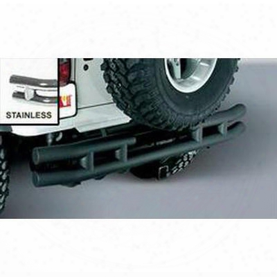 Rugged Ridge Dual Tube Rear Bumper With Hitch (stainless Steel) - 11573.04