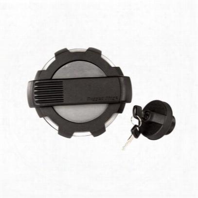 Rugged Ridge Elite Fuel Door And Locking Gas Cap (brushed Aluminum) - 11425.15