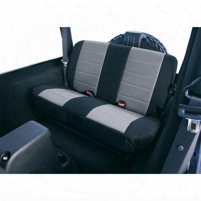 Rugged Ridge Fabric Rear Seat Cover (black/gray) - 13280.09