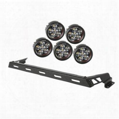 Rugged Ridge Hood Light Bar Kit With 5 Round Led Lights - 11232.14