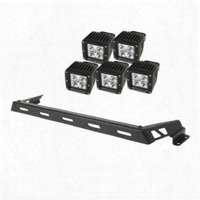 Rugged Ridge Hood Light Bar Kit With 5 Square Led Lights - 11232.12