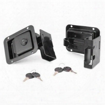 Rugged Ridge Locking Paddle Handle Door Latch Set With Keys - 11812.80