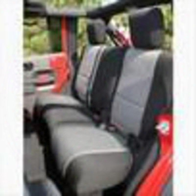 Rugged Ridge Neoprene Rear Seat Cover (black/gray) - 13264.09