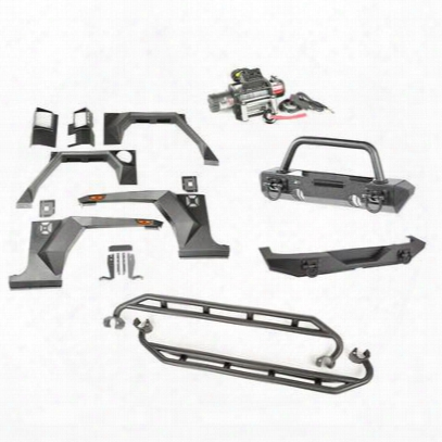 Rugged Ridge Xhd Armor Package - Bumper With Hoop Over Rider - 11615.51
