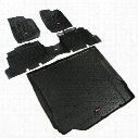 Rugged Ridge All Terrain Floor Liner Kit (Black) - 12988.01
