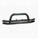 Rugged Ridge Dual Tube Front Bumper with Center Hoop (Black) - 11561.01
