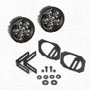 Rugged Ridge LED Light and Mounting Kit, Round - 11232.27