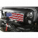 Rugged Ridge Spartan Grille American Flag Insert - 12034.22