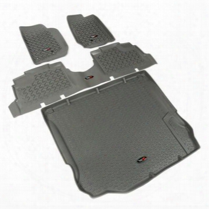 Rugged Ridge All Terrain Floor Liner Kit (gray) - 14988.04