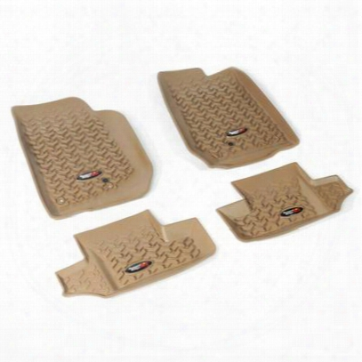 Rugged Ridge All Terrain Floor Liner Kit (tan) - 13987.03